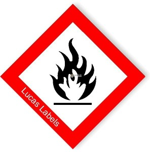 CLP GHS Flammable Safety Symbol