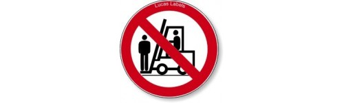 No Standing On Forklifts