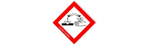 GHS Corrosive Warning Label